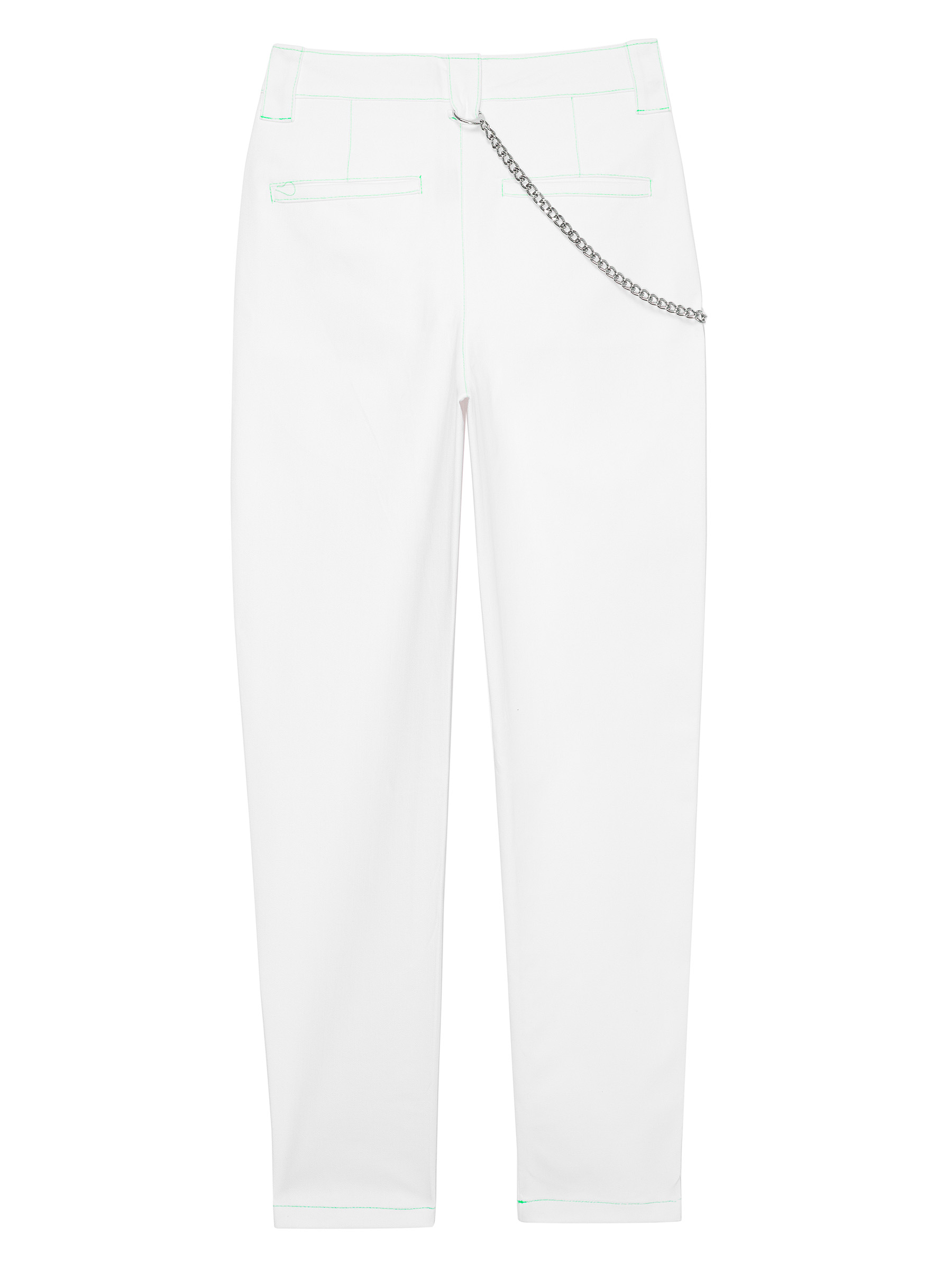 LH WHITE PANTS WITH NEON SEAMS