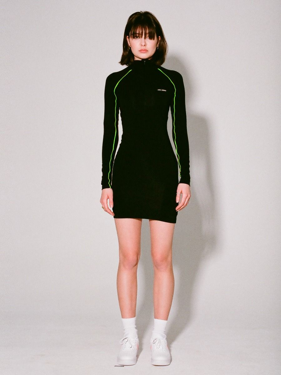 LH LONGSLEEVE DRESS WITH GREEN
