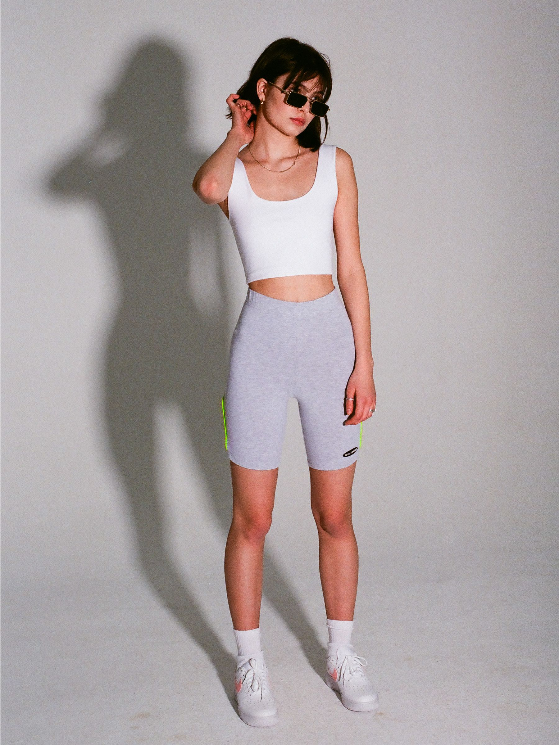 LH GREY CYCLE SHORTS