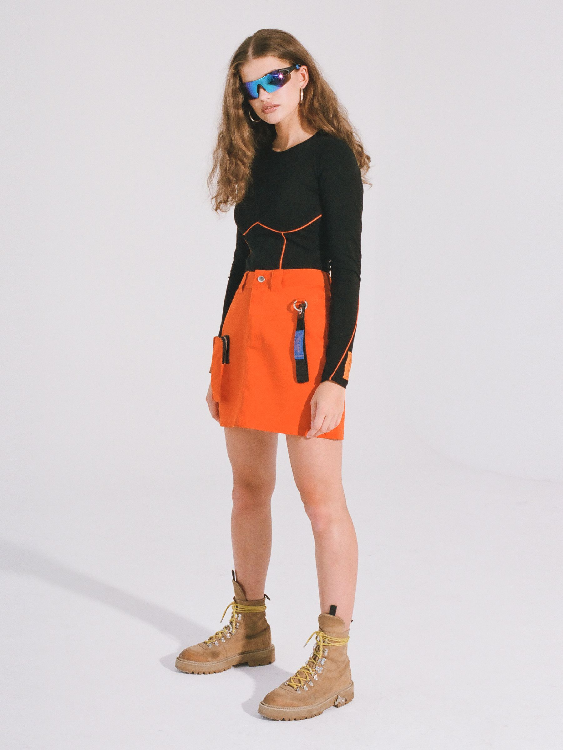 LH ORANGE MINI SKIRT