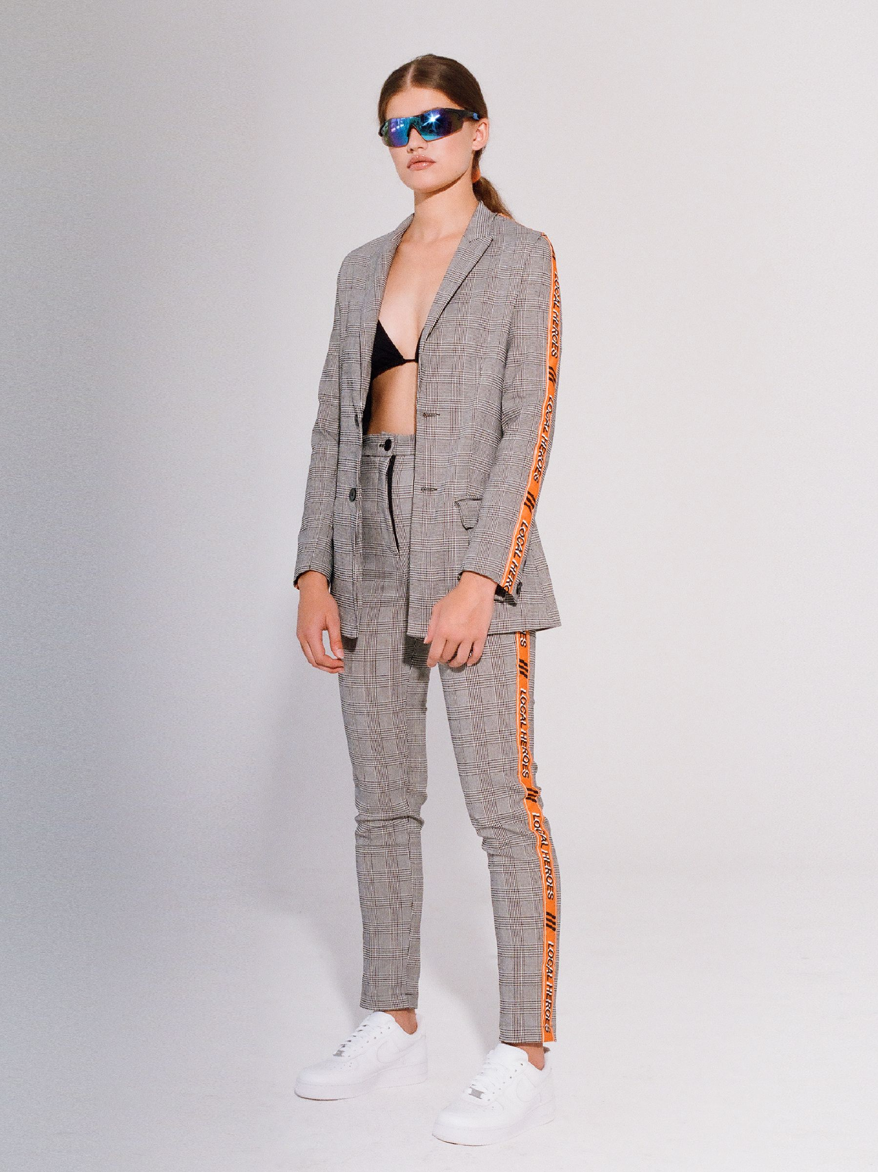 CHECKED TAPE JACKET