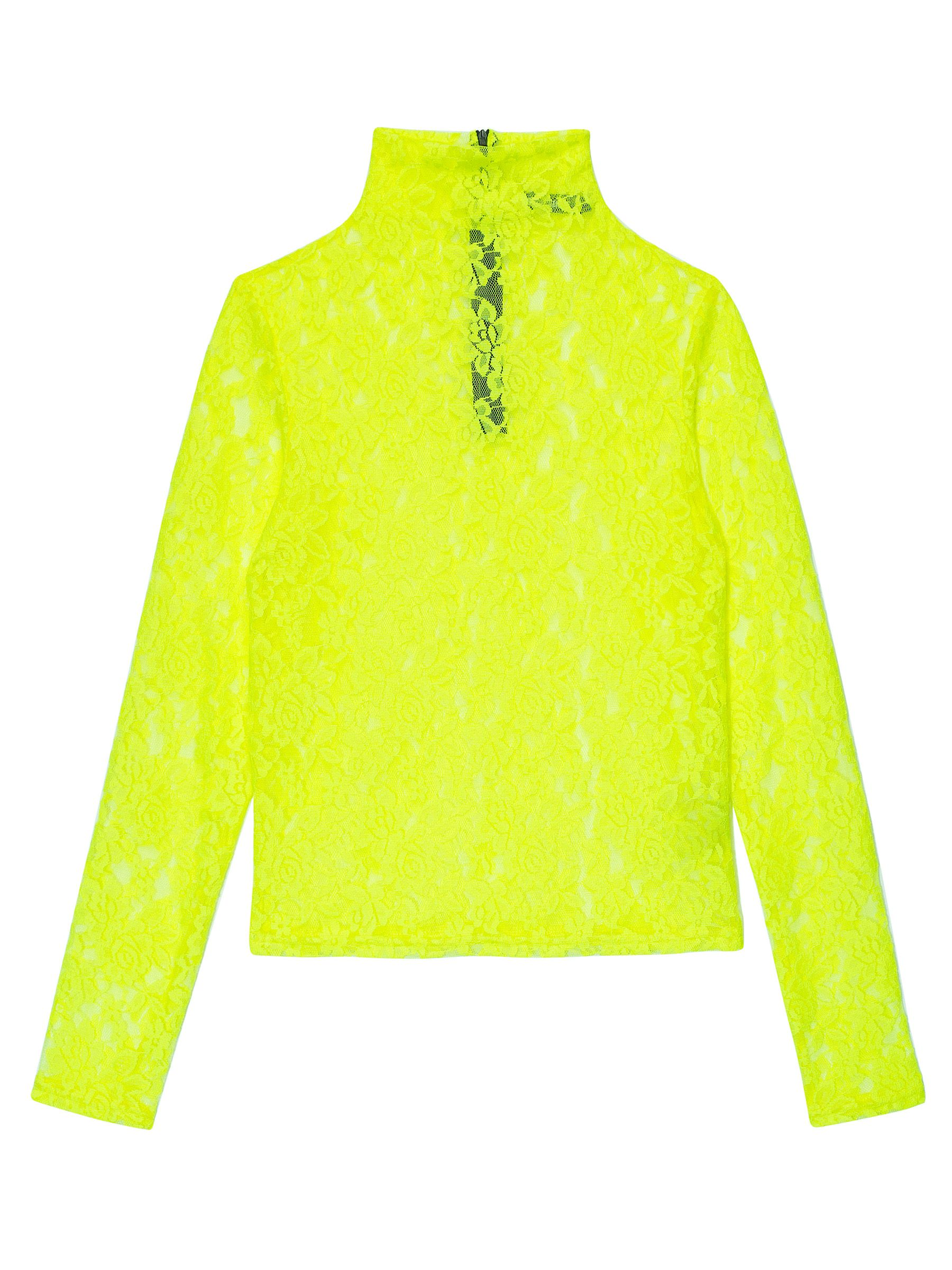 LH NEON LACE TURTLENECK