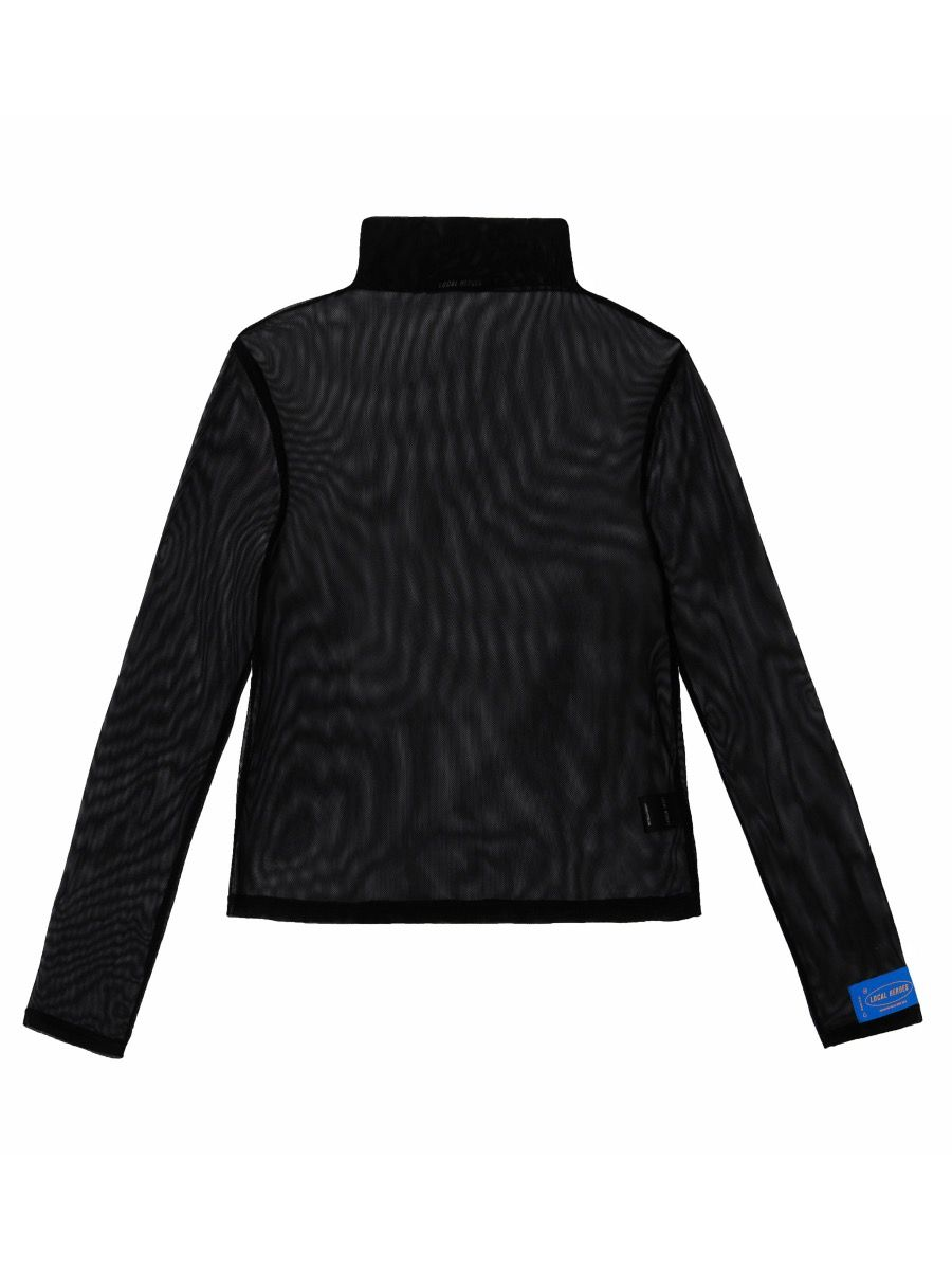 MESH BLACK TURTLENECK