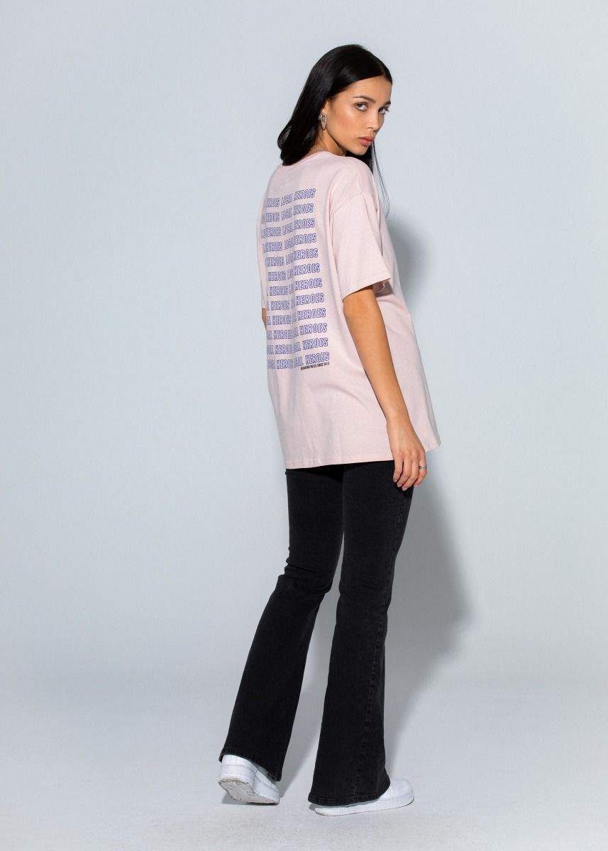T-SHIRT LH BREAKING RULES PINK