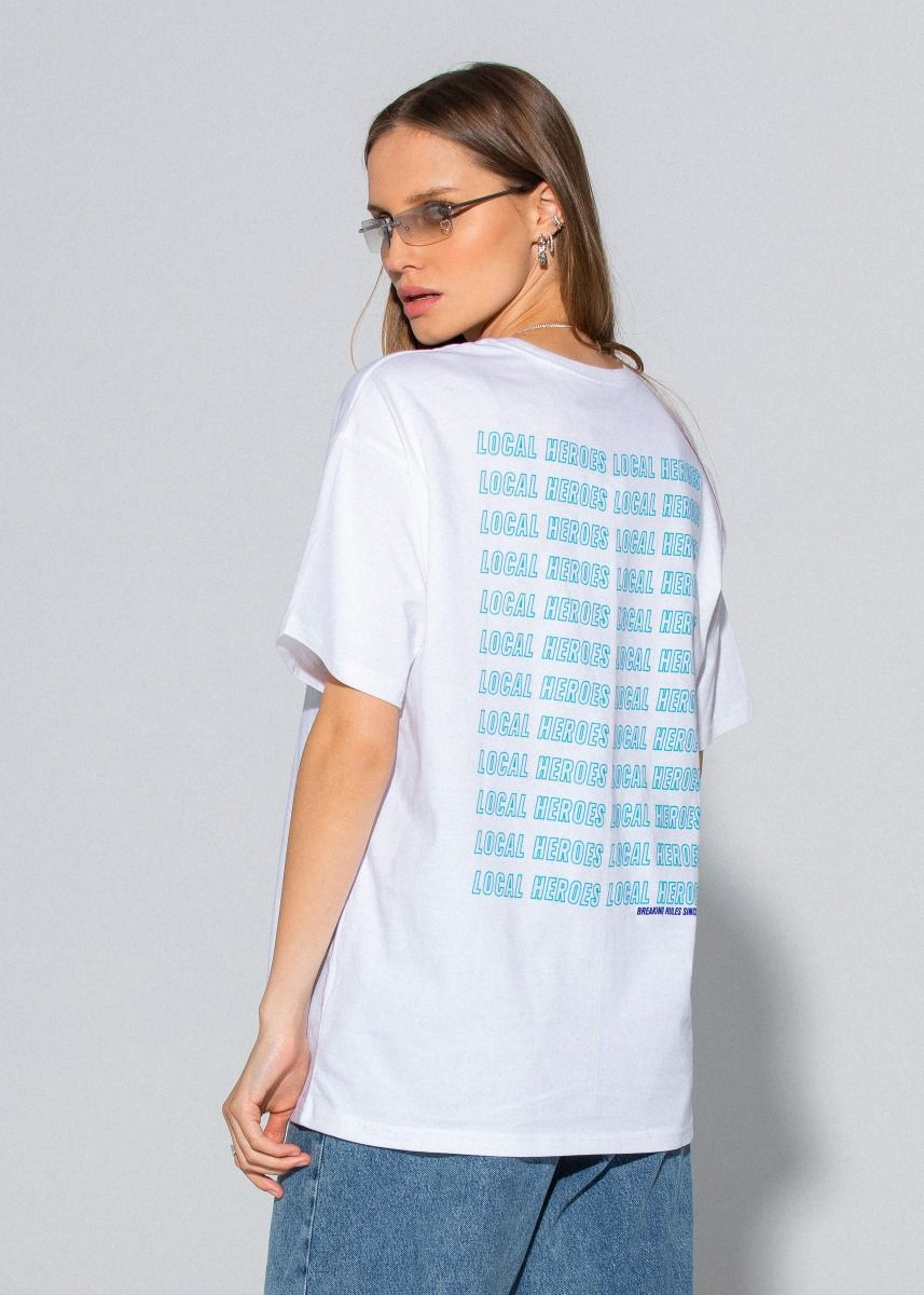 T-SHIRT LH BREAKING RULES WHITE