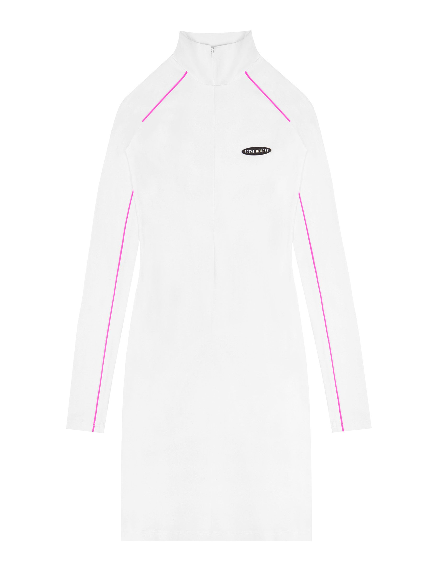 LH WHITE LONGSLEEVE DRESS