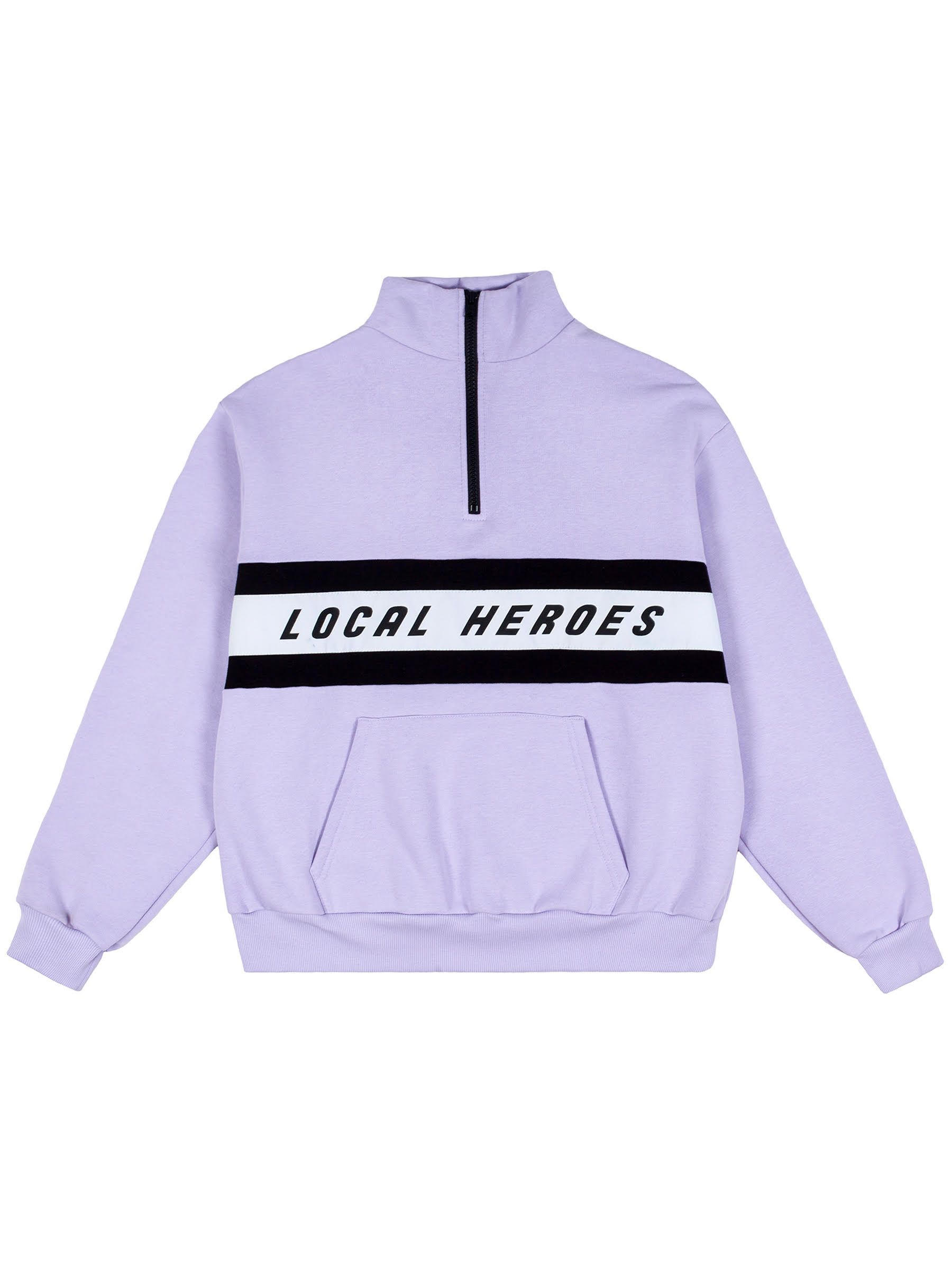 LH VIOLET ZIPPER SWEATSHIRT